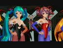 【MMD】モリガンとリリス風さん達で「美脚戦隊スレンダー」【修正版】