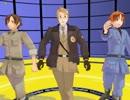 【MMD1作目】爆乳音頭踊ってもらった【米・北伊・南伊】