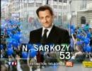 仏大統領選 2007年2回目 開票速報 TF1
