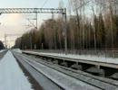 ロシアの新幹線「sapsan」の通過動画
