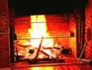 暖炉と秒針と雨音と