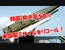 【韓国、命中率50%】米国製ミサイルをリコール!