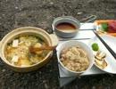 【めさの休息】野外料理で松茸を楽しんで