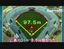 神宮球場「101mもなかった」 両翼の公称値を訂正