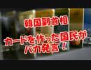 【韓国副首相】カードを作った国民がバカ発言!