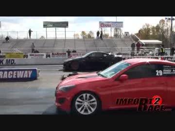 Revenge! Korea Hyundai revamp challenges with Nissan GT-R Normal (3 sec handicap)!
