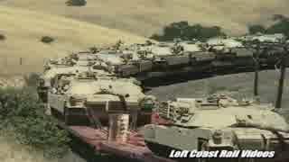 米軍の輸送列車