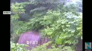 【土石流】2014年7月9日、長野県南木曽町