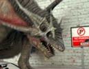 ドラゴンが車を後ろから突いてる動画