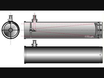 反射式望遠鏡の例