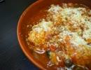 酒の肴の鶏団子の中華トマト煮