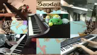 ピアノ5人で「サガフロ2メドレー」弾いてみた【いずかなアス柿みいと】