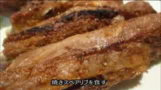 アメリカの食卓 362 焼きスペアリブを食す!