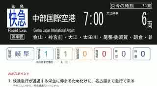 【名鉄名古屋駅】カオスな平日7時台【発車標再現】(前半)