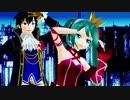 【MMD】ミクとKAITOでロミオとシンデレラ【夜景ドーム配布】