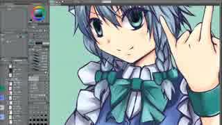 Clip Studio Paintで咲夜さんを描いてみた