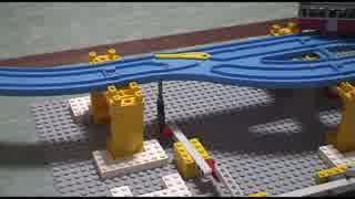 プラレールとレゴを使って論理演算。回路の組み合わせでXORも作れる