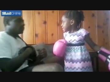 黒人幼女(5歳)の右フックが半端ないと話題に