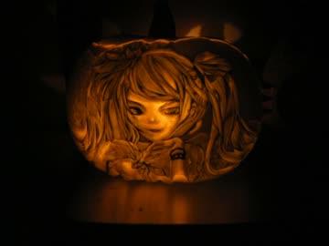 【ハロウィン】ワールドイズマインを彫ってみた