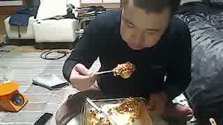 こうきゃの飯配信(2014.11.15)ラザニア 食