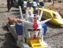 ガンダムによるミニ鉄道の運転