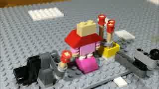 レゴで飛び出す絵本 マッチ売りの少女