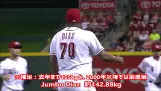 【MLB】MAX144キロ(グラム)!メジャーの投手の体重ベスト9