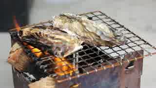 【車庫めし】焼き牡蠣と牡蠣ご飯【ブッシュクラフト】