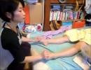 (赤さん付き)りらく屋の足リフレクソロジー30分(女性モデル)