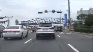 【レンタカーで韓国縦断 09】 車載動画 木浦