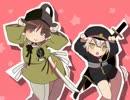 【手描き】石切丸と蛍丸でウッーウッーウマウマ(゚∀゚)【刀剣乱舞】