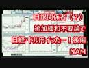 日銀関係者(?)追加緩和不要論でドル円と日経暴落 後編