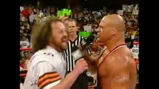 【WWE】ユージン VS カート・アングル メダルマッチ【RAW】