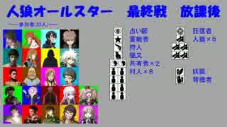 【人狼オールスター】最終戦-放課後-Bパート
