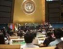【軍歌】歌唱祖国、米中軍楽団国連で共演