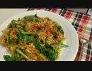 【鮭の骨まで】鮭の水煮缶とほうれん草のトマトスパ【食べられる】