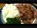 アメリカの食卓 449 朝に食べる4T ステーキ!