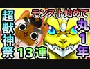 【モンスト実況】モンスト始めて丸1年!超獣神祭!【13連】
