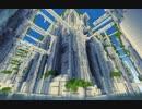 【Minecraft】 白い遺跡の谷 【建築紹介】