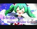 【ニコカラ】  Happy birthday to you!!  【off Vocal】