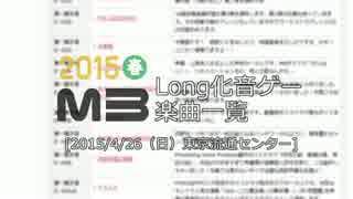 【M3】 M3-2015春/Long化音ゲー楽曲一覧