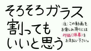 (V)・∀・(V)<ガラスぶち破ってみぱん。(