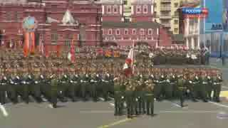 【ロシア】対独戦勝70周年記念式典パレ