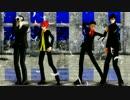 【ペダルMMD】総北新2年4人でSweet Devil (colate remix)【今泉誕】