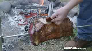焚き火でローストビーフ