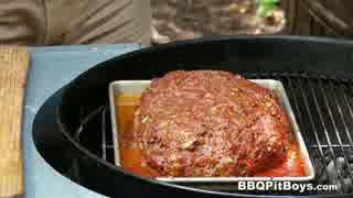 牛ひき肉とリフライドビーンズのミートローフ