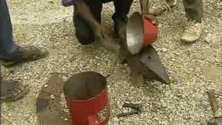 廃金属で調理用ストーブを作る