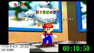 【10周目】スーパーマリオ64を1000回クリ