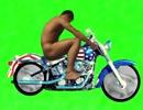 アメリカンなバイクに乗る野獣先輩GB