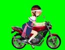 バイクに乗るアリスGB.zr250